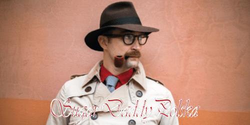 mężczyzna z kapeluszem i fajką detektyw sugardaddy
